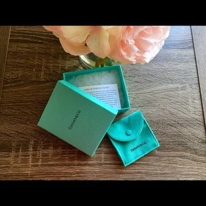 Tiffany & Co. Box & Suede Jewelry Pouch